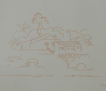 Gravura de Tarsila do Amaral na exposição Impressões – Mulheres Artistas no Acervo da cAsA