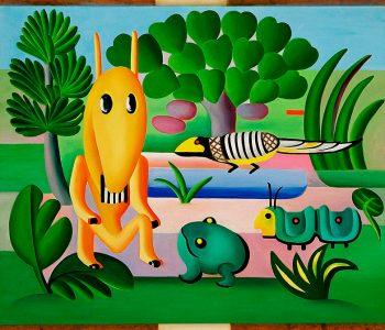 'A Cuca' de Tarsila do Amaral na exposição Jardin Infini no Centre Pompidou-Metz